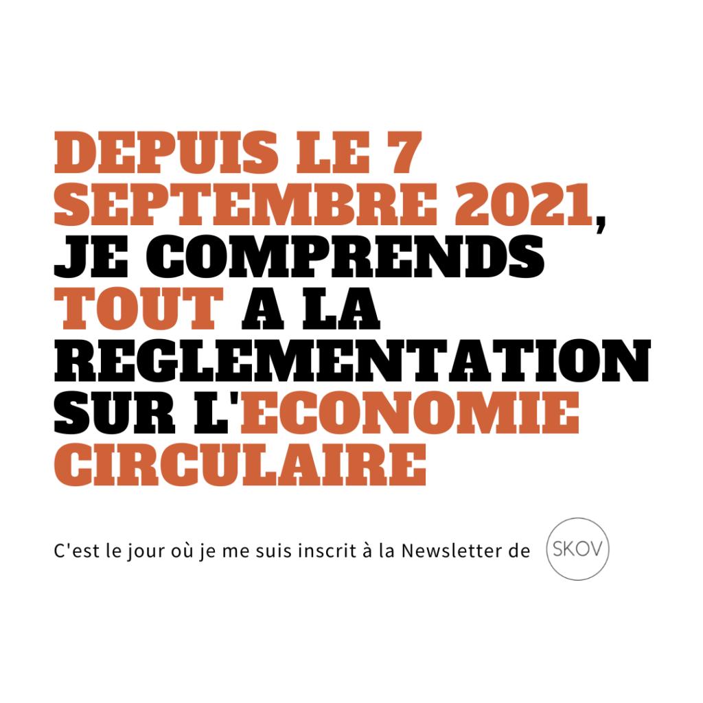 newsletter économie circulaire SKOV